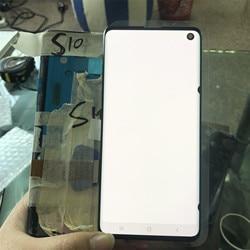 100% Оригинальный ЖК-дисплей для SAMSUNG Galaxy S10e S10, ЖК-дисплей G9730 S10  Plus G9750, дигитайзер сенсорного экрана в сборе с черной точкой