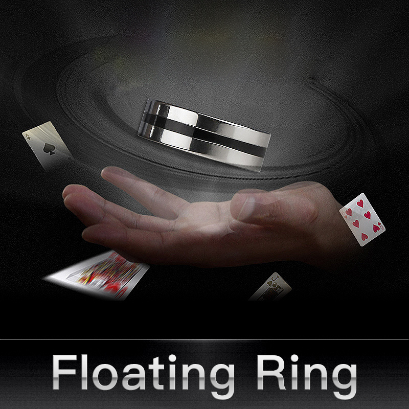 Magic Floating Suspension Ring with Gifts Tricks Invisible Magic Shows Props K M