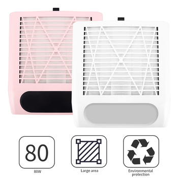 professional nail 3 fans dust suction collector vacuum cleaner nail manicure polish salon tools with 2 dust collecting bags 80W Nail Dust Suction Dust Collector Fan Vacuum Cleaner Manicure Machine Tools Dust Collecting Nail Art Manicure Salon Tools