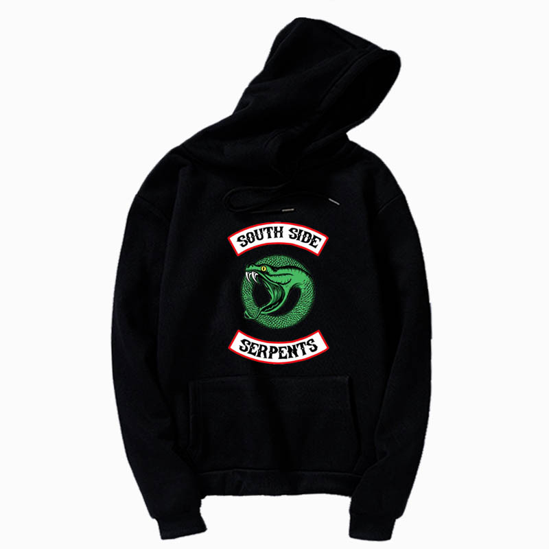 Riverdale South Side Hoodies  South Side Serpents Fans Pullover Sweatshirt Trend Hoody Trade Hot Riverdale  Hoodie