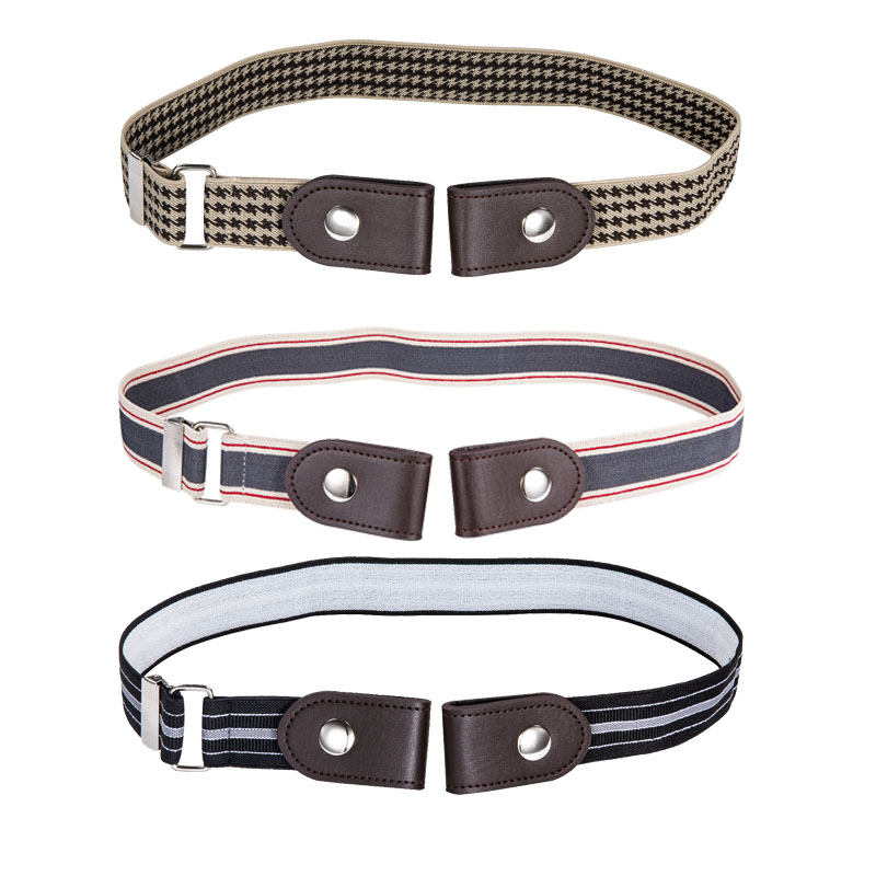 3 Pack Men Elastic Belt Black Gray No Buckle Rubber Wasit Belt Adjustabel For Men Women Belt For Jeans Wholesale Barry.Wang