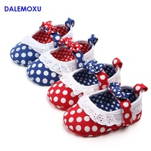 2019 Casual Infant Toddler Baby Girl Dot Bow Princess Soft Sole Crib Trainer Shoe Sneaker For 1 Year Old shoes