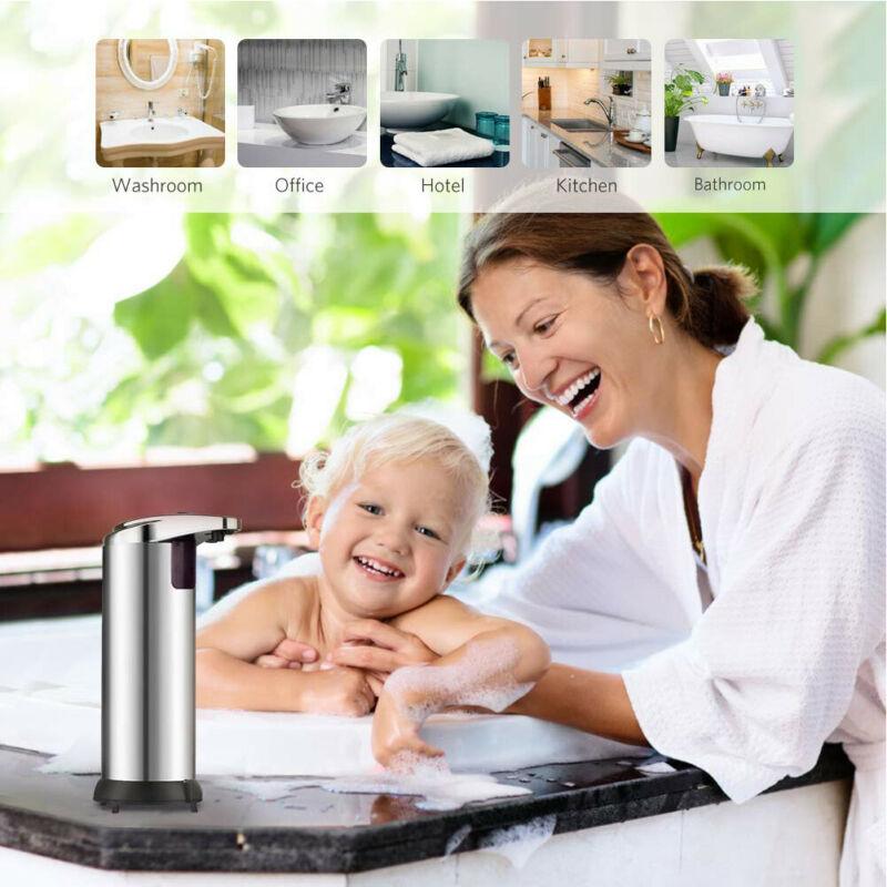 Automatic Liquid Soap Dispenser Smart Sensor Soap Dispensador Touchless Stainless Steel Soap Dispenser For Kitchen Bathroom