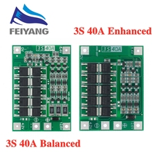 10pcs 3S 40A ליתיום ליתיום סוללה מטען Lipo תא מודול PCB BMS הגנת לוח עבור תרגיל מנוע 12.6V עם איזון