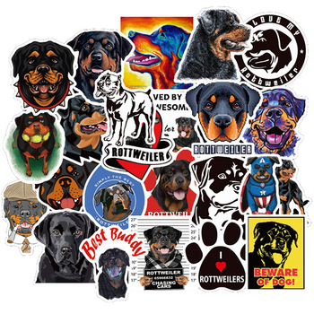 10/30/50PCS Cute Rottweiler Dog Stickers Travel Luggage Phone Guitar Fridge Laptop Waterproof Classic Kid Toy Gift Sticker Decal - discount item  30% OFF Classic Toys