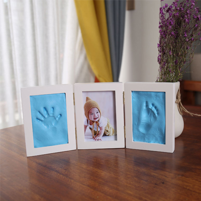 Newborns Photo Frame Baby Molds Handprint Footprint 3D DIY Soft Clay Inkpad Kids Exquisite Souvenirs Casting Home Decoration