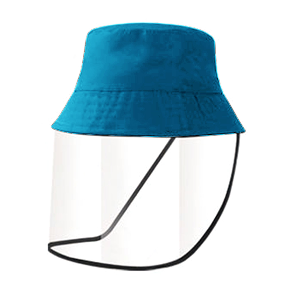 Korea Style Anti-Germs Wind-Resistant And Anti-Dust Conjoined Cap Bucket Hat Detachable Travelingwith Removable Visor Face Cover