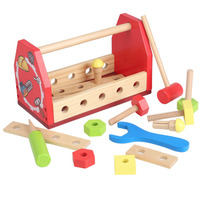 Baby Wooden Tool Toys KidsLearning Educational Knock On The Ball Screw Assembly Game Tool Disassemble Table Games Dropshipping