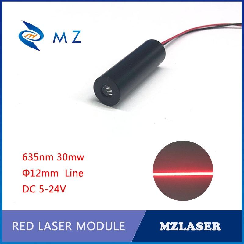 Red  Line Laser Mdoule 635nm 5/10/30mw Laser Module 5-24V Industrial Grade Red Laser Diode Module