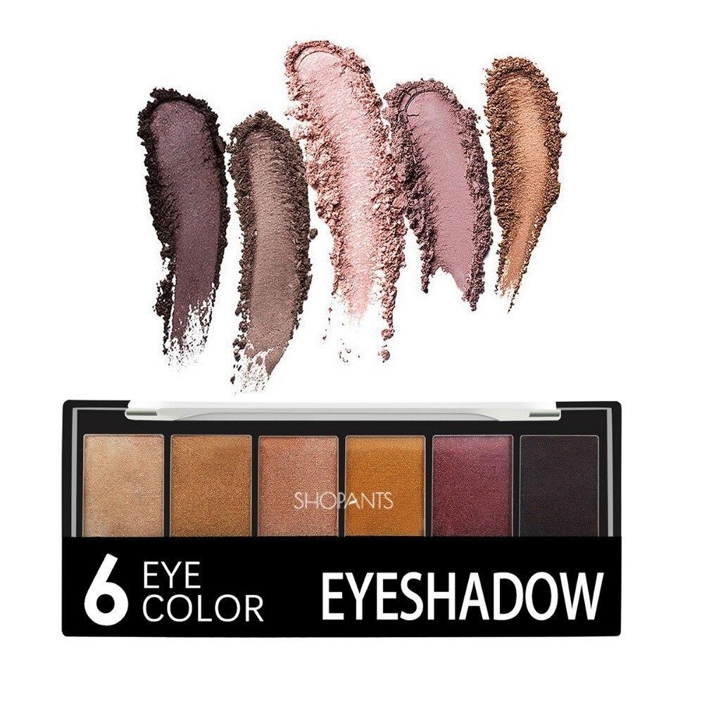 ShopAnts Neue 6 Farben Lidschatten-palette Glamorous Smokey Farbe Lidschatten Schimmer Glitter Glatte Creamy Make-Up Pulver