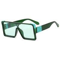 Квадратные Солнцезащитные очки большого размера для женщин и мужчин с плоским верхом, модные цельные солнцезащитные очки с линзами для жен...