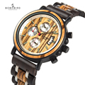 BOBOBIRD деревянные часы для мужчин, отображение даты, светящаяся рука, многофункциональный хронограф, наручные часы, reloj hombre с деревянной короб...
