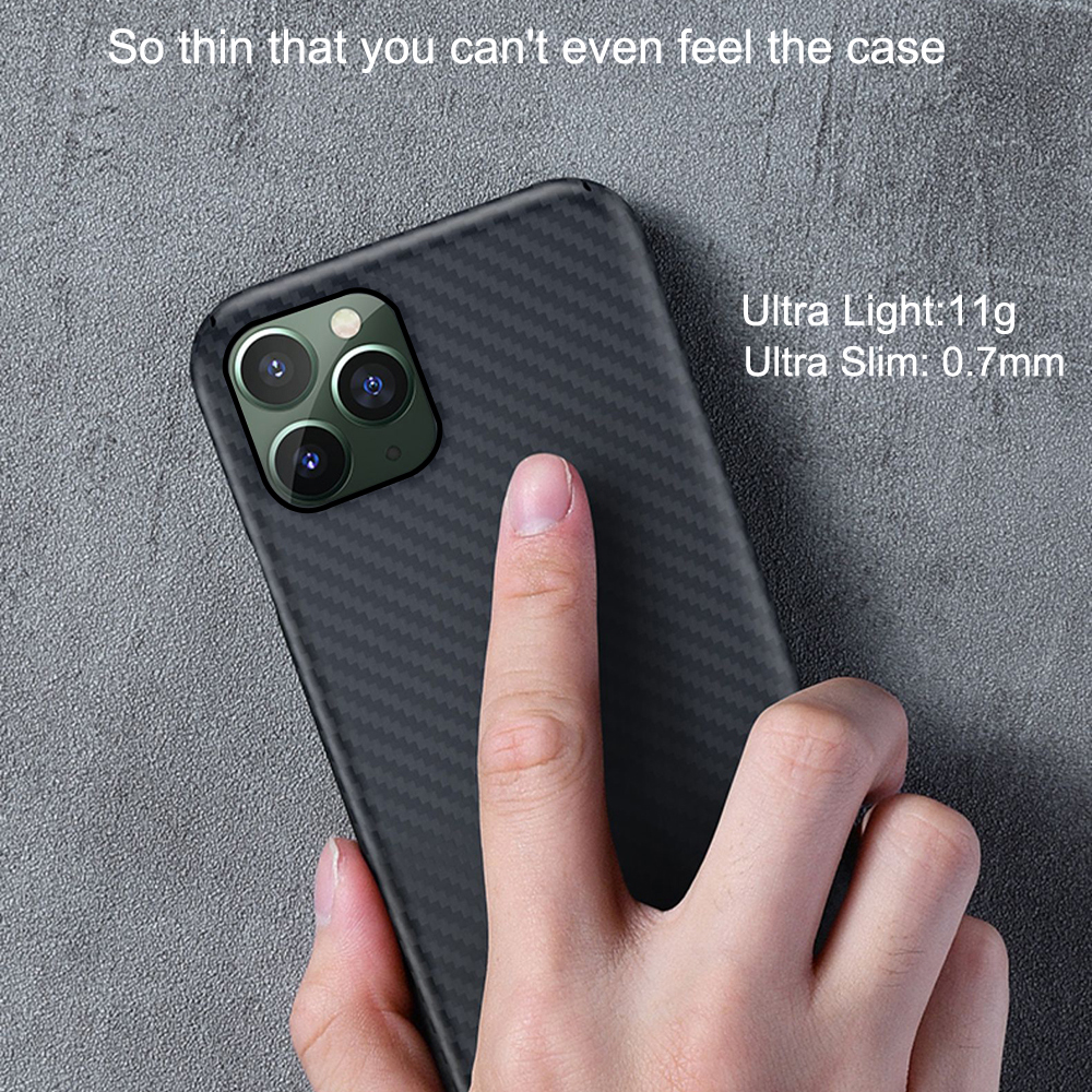 Image 4 - 0.7mm Ultra Thin Luxury Carbon Fiber Pattern For iPhone 11 Pro  Max Case Cover Aramid Fiber Case For iPhone 11Pro XS Max XR XFitted  Cases