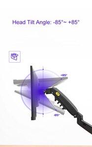 "Image 5 - NB F80 + FP 1 הארכת עבור לא VESA חור 17 27 ""LED צג מחזיק זרוע גז אביב מלא תנועה גז יתד Flexi הר עומס 2 9kgs"