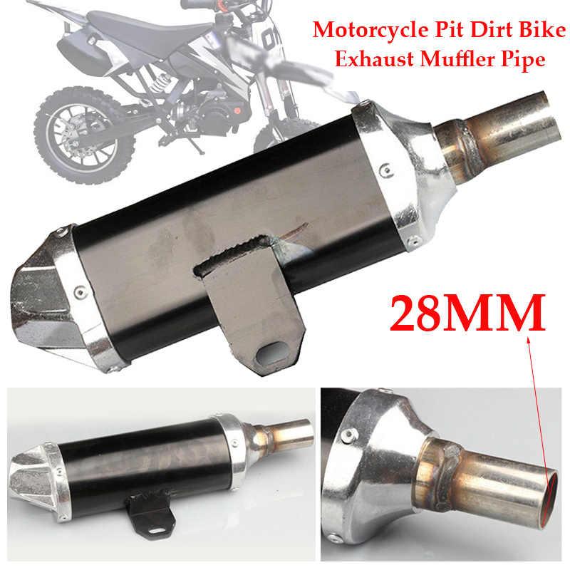 1x noir 28mm tuyau d'échappement silencieux pour moto saleté vélo ATV Quad 50cc-150cc