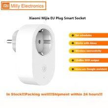 Умная розетка Xiaomi Mijia EU с дистанционным управлением, переключатель времени, интеллектуальная память, энергосбережение, работает с Alexa/Google assistant