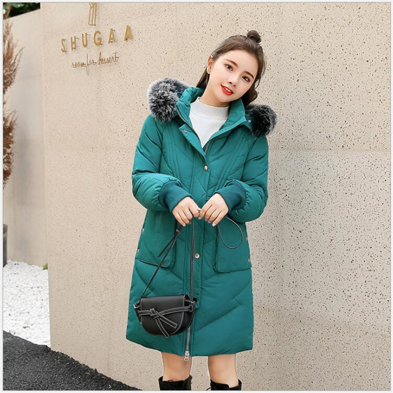 Plus Size 5XL Winter Jacket Women Cotton Wadded women Jacket  Coats Warm Hooded Overcoat Long Jacket Female Parka abrigos  F05