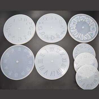 Silikonowe zegar żywicy epoksydowej formy wielofunkcyjne wisiorek biżuteria akcesoria biżuteria rzemieślnicza zegar rzemiosło podejmowania formy okrągłe 1 szt tanie i dobre opinie Silicone