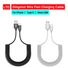 1.8 m Slingshot line Charging Cable Data line Type C Micro USB For Huawei P30 Pro For Oneplus 7 Pro For iPhone X/Xs/XR Charging цены