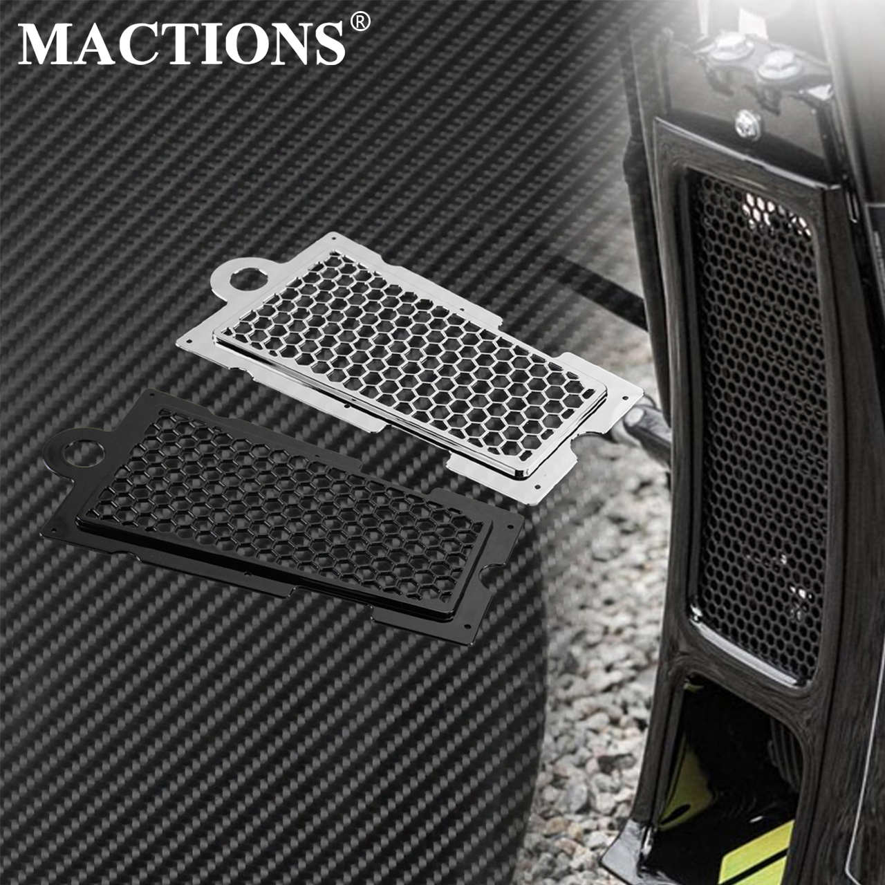 Motorcycle Honeycomb Mesh Radiator Guard Grille Oil Radiator Shield Protection Cover For Harley Softail Fat Boy Street Bob FXLR|Covers & Ornamental Mouldings| |  - title=