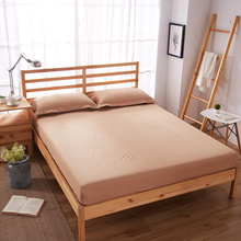 10pcs/lot Solid Fitted Sheet On Elastic Band Mattress Cover with Rubber Printed Bed Hot Selling Linens