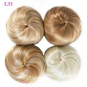 Женские синтетические накладные волосы LiangMo Bun Chignon на заколках