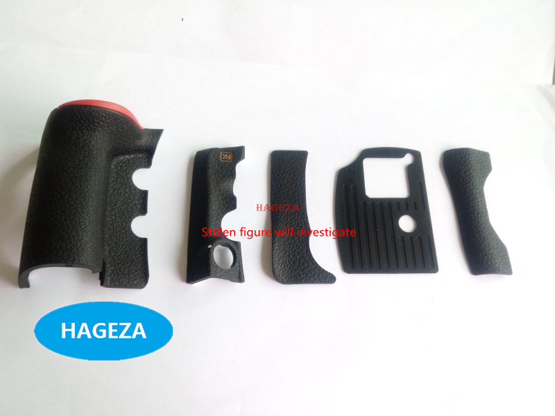 100% NEW ORIGINAL 5 PIECE FRONT/REAR/ GRIP RUBBER SET NEW REPAIR <font><b>PARTS</b></font> OEM + Tape + CF card cover For <font><b>NIKON</b></font> <font><b>D810</b></font> image