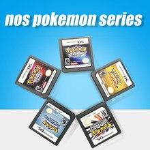 Tarjeta de consola de cartucho en inglés para DS, 3DS, 2DS, NDS, Pokemon, Series, diamante, corazón, dorado, perla, platino, SoulSilver, DS, juego de Nintendo