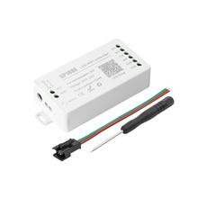 Controlador LED SP108E compatible con WS2812B, WS2813, SK9822, APA102C, etc., aplicación IOS/Android, Control DC 5V 24V, máximo 2048 píxeles