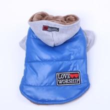 Теплое пальто для собак и кошек, бархатная куртка внутри для домашних питомцев щенков теплые толстовки с капюшоном, зимний комбинезон, 4 цвета