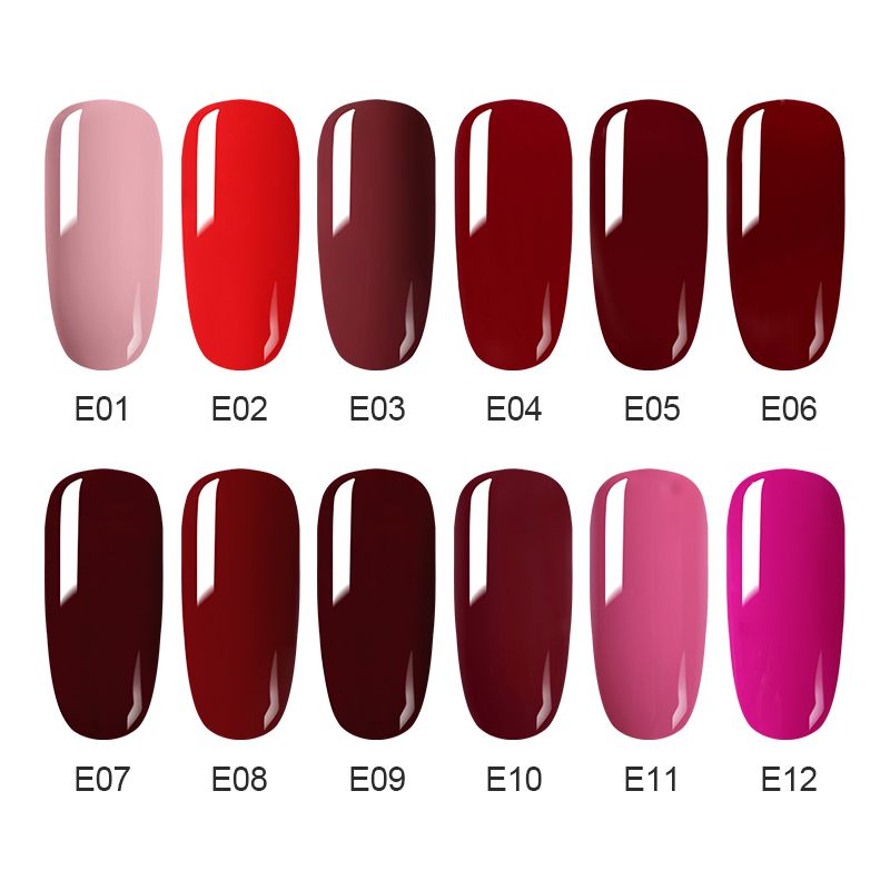 NEE JOLIE 8ml Red Caramel Series Nail Gel Polish Manicure Semi Permanent Vernis UV LED Gel Varnish Soak Off Nail Art Gel Lacquer in Nail Gel from Beauty Health