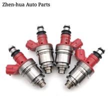 4 pces 15710-77ea0 JS28-2 bocal do injetor de combustível para 1994-03 suzuki-isuz-honda 1.8-2.0-2.3-2.6 js282 8-97079532-0 acessórios do carro