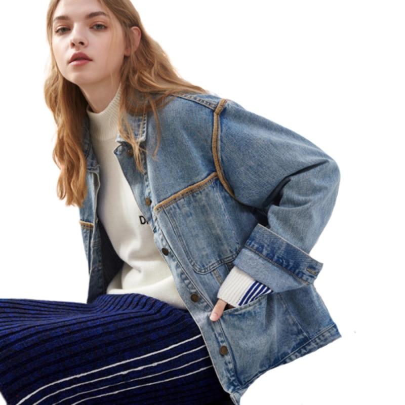 Autumn Denim   Jacket   Women Big Pocket Chaqueta Mujer Casaco Feminino Loose Clothes Riverdale Bts   Basic     Jackets