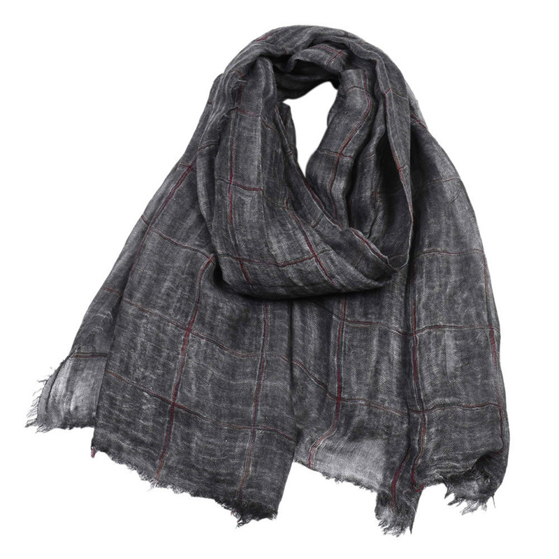 Cotton Scarf Twill Autumn Colorful Winter Long Woven And Men Men's