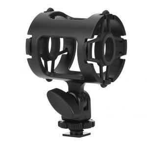 Image 1 - מיקרופון הלם הר מחזיק עם קר נעל אוניברסלי פלסטיק מיקרופון Stand הלם הוכחה מהדק סטודיו הקלטת סוגר למצלמה