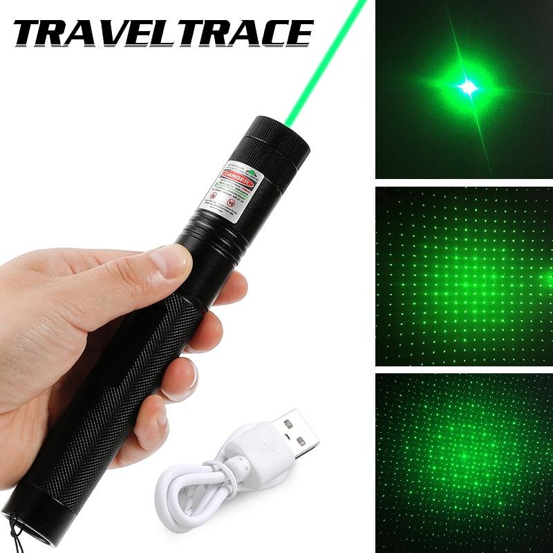 Миниатюрная лазерная указка, мощная зеленая, в стиле милитари, с видимым лучом и крассветильник Том, зарядка через USB, яркий лазерный указате...