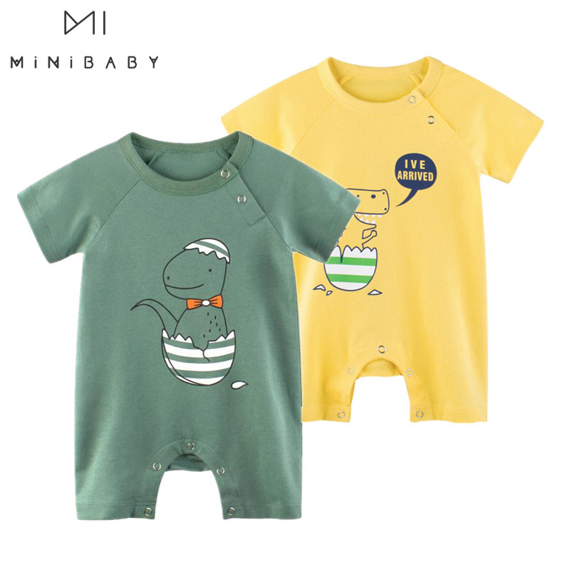 2020 Summer Baby Romper Short Sleeve Cotton Overalls Newborn Clothes For Boys Jumpsuit Baby Outfits Clothes Overalls For Newborn