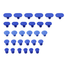 30pcs Car Paint Dent Repair Tool Blue Dent Puller Tabs Car Accessories Auto Body Dent Repair Tool Car Repair Tool For Car Moto(China)