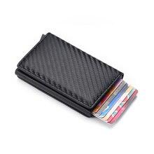 Minimalist Wallet Pocket-Case Credit-Card-Holder Carbon Slim Dienqi Rfid Security Metal