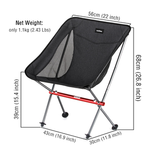 Image 5 - Naturehike Fishing Chair Ultralight Portable Folding Camping Chair Foldable Beach Chair Picnic Chair Collapsible Hiking Chair