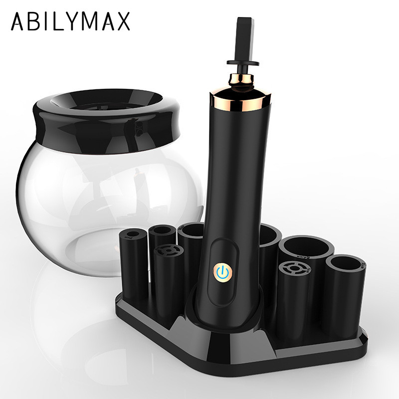 ABILYMAX Electric Makeup Brush Cleaner & Dryer Set 10 seconds Efficient Make Up Brush Washing Tool