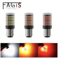 Fagis 2Pcs 3014 144smd Canbus S25 1156 1157 BA15S P21W LED BAY15D lamp T20 7440 W21W W21/5W Turn Signal Light Tail Brake Bulb