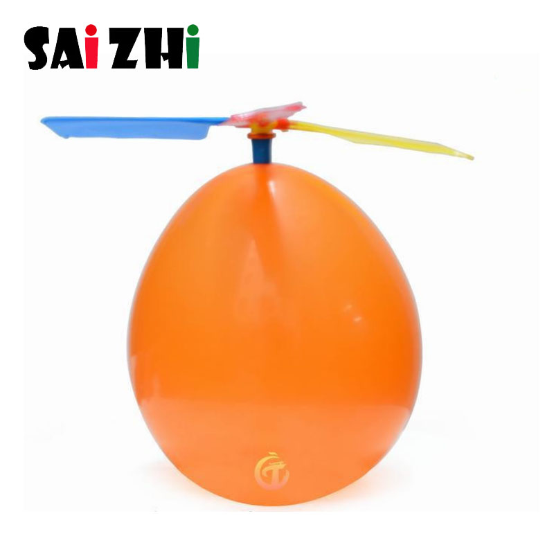 Saizhi Balloon Helicopter Toys Balloon Aircraft Propeller Kids Traditional Classic Flying Toys Fun Toy Airplane Plaything SZ33g5 image