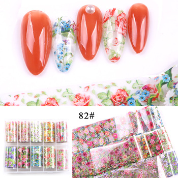 1set/lot 2.5*100cm Butterfly Spring Mix Flower Starry Sky Nail Foils set Transfer Sticker DIY Manicure Decoration Decals - 82