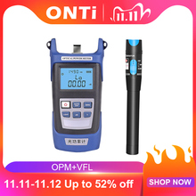 ONTi Fiber optic tool kit FC/SC Connector VFL OPM Optical Power Meter Laser Source and Visual Fault Locator 1/10/20/30mW 5 30km