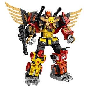Image 1 - G1 transformação predaking divebomb rampage cabeça oversize guerra modo águia figura de ação robô brinquedos