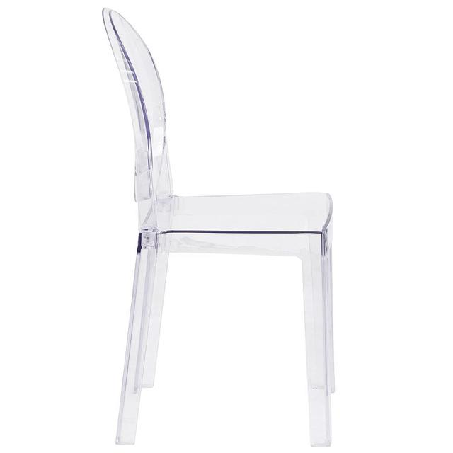 6 PCS Modern Dining Chairs Set Acrylic Chairs Clear Ghost Victoria Dining & Vanity Dressing Chair For Kitchen Office Dining Room 3