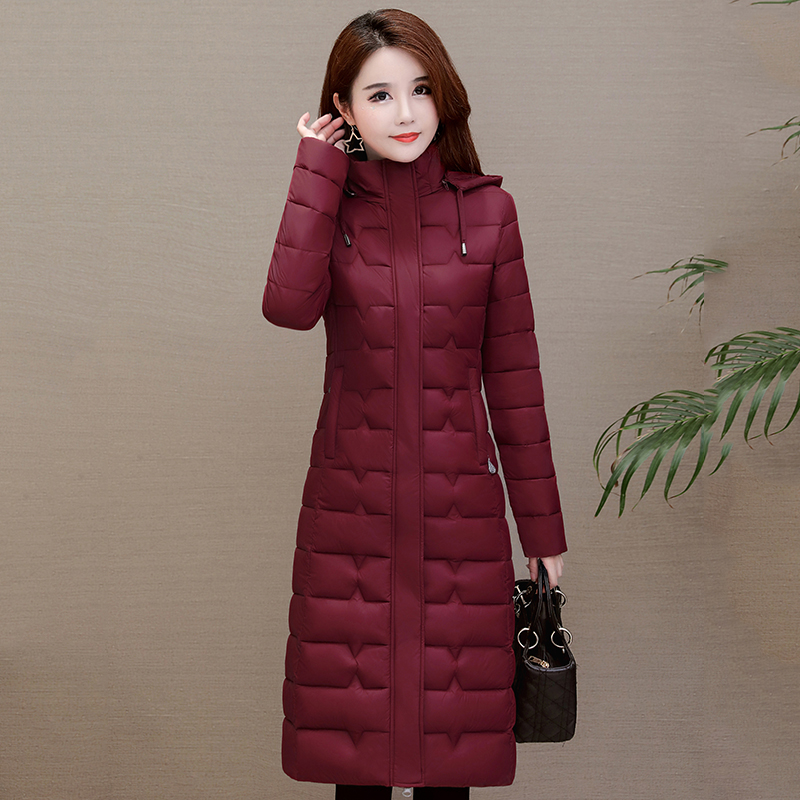 Women Slim Long Jacket 2020 Thick Winter Parka Office Laides Hooded Warm Plus Size Cotton Coat Femme Outwear Cazadora Mujer