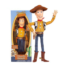 38CM Toy Story 4 Talking Woody Speaking Jessie Buzz Lightyear Action  Figure Collectible Model Toy Doll for kids christmas gift [funny] original box 28cm game over watch azrael black death reaper ripper action figure collectible model doll toy kids gift