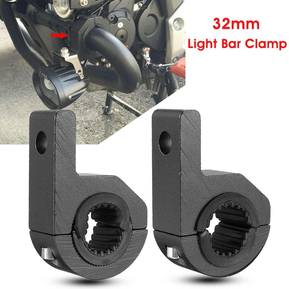 Pair LED Light Bar Mount Brackets 25-32mm Fog Lamp Driving Light Spotlight Holder Clamps Universal For Car Motorcycle ATV